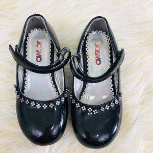 Josmo Toddler Girls Sz 11 Black Dress Shoes